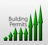 stock photo of macroeconomics  - Chart illustrating building permits growth macroeconomic indicator concept - JPG