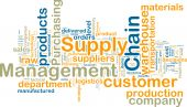 image of supply chain  - Word cloud tags concept illustration of supply chain management - JPG