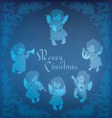 Singing angel  ornamental coner Christmas