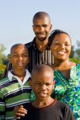 stock photo of children group  - Closeup portrait of a happy african family - JPG