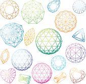 Set of colorful linear diamonds