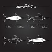 SWORDFISH cuts - blackboard