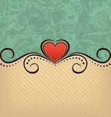 Valentine's Day Retro Elegance Background