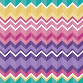 Tribal folk aztec seamless texture, pattern with zig zag