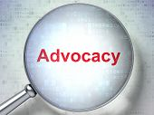 Law concept: Advocacy with optical glass