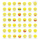 Set Of Emotions Vector Cartoon