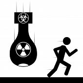 Run from bomb