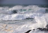 Storm In The Galician Coast