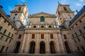 Church Facade In  The Royal Site Of San Lorenzo De El Escorial