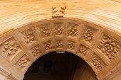 Renaissance Arch In The San Esteban Convent Of Salamanca.