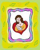 Human Breastfeeding concept