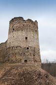Tower Of Koporye Fortress, Old Village In Leningrad Oblast, Russia