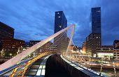 City Of Bilbao at night, Spain