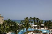 The Ritz-Carlton Grand Cayman luxury resort located on the Seven Miles Beach