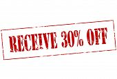 Receive Thirty Percent Off