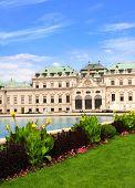 Belvedere palace, Vienna. Summer day
