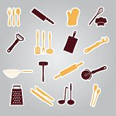 Home Kitchen Cooking Utensils Stickers