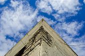 Rinforced concrete pyramid-shaped