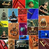 Door handles, a collage