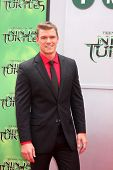 LOS ANGELES - AUG 3:  Alan Ritchson at the Teenage Mutant Ninja Turtles Premiere at the Village Theater on August 3, 2014 in Westwood, CA