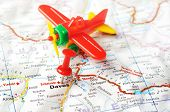Davos,swiss  Map Airplane