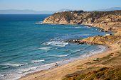 Landscape Of Gibraltar Strait, Morocco. Atlantic Ocean Coast