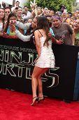 LOS ANGELES - AUG 3:  Megan Fox at the Teenage Mutant Ninja Turtles Premiere at the Village Theater on August 3, 2014 in Westwood, CA