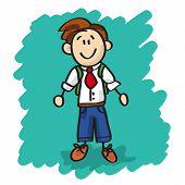 Cute Cartoon Little Boy
