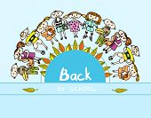Decorative back to school kids background