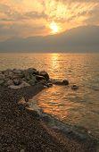 Sunset At Garda Lake, Italy