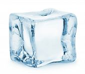 picture of refraction  - Ice cube isolated on a white background - JPG