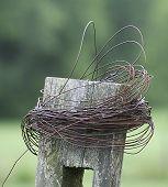 Farm Fence Pole
