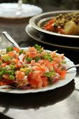 Moroccan Tomato Salad a Popular Dish in Morocco