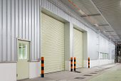 picture of roller shutter door  - Shutter door or rolling door - JPG