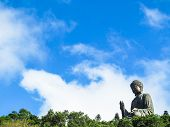 stock photo of lantau island  - Giant Buddha - JPG