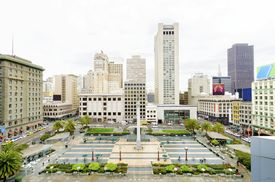 stock photo of trident  - A day view of the Union Square in downtown San Francisco California United States - JPG