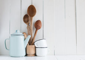 pic of pottery  - Home kitchen still life - JPG