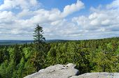 foto of ural mountains  - Kind from mountain top - JPG