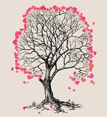 A tree of hearts love symbol