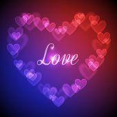 Hearts Bokeh Background
