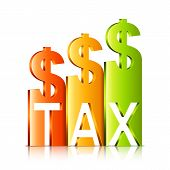 Rising Tax Rate Concept