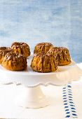 Mini Pumpkin Bundt Cakes With Chocolate