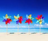 Pinwheels on the beach.