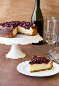 Cherry Cheesecake And Wine