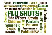 stock photo of flu shot  - Flu Shots word cloud on white background - JPG