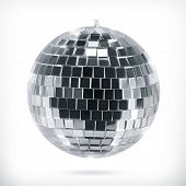 Disco ball, vector icon