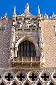 Architecture detail of Doges Palace at piazza San Marco in Venice