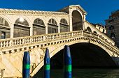 Rialto bridge at Grand canal in Venice at sunny morning