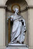 VIENNA, AUSTRIA - OCTOBER 10: St. Simon the Apostle, Church of Saint Peter in Vienna, Austria on October 10, 2014.