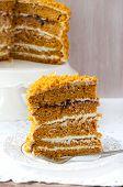 Slice Of Pumpkin And Orange Cake